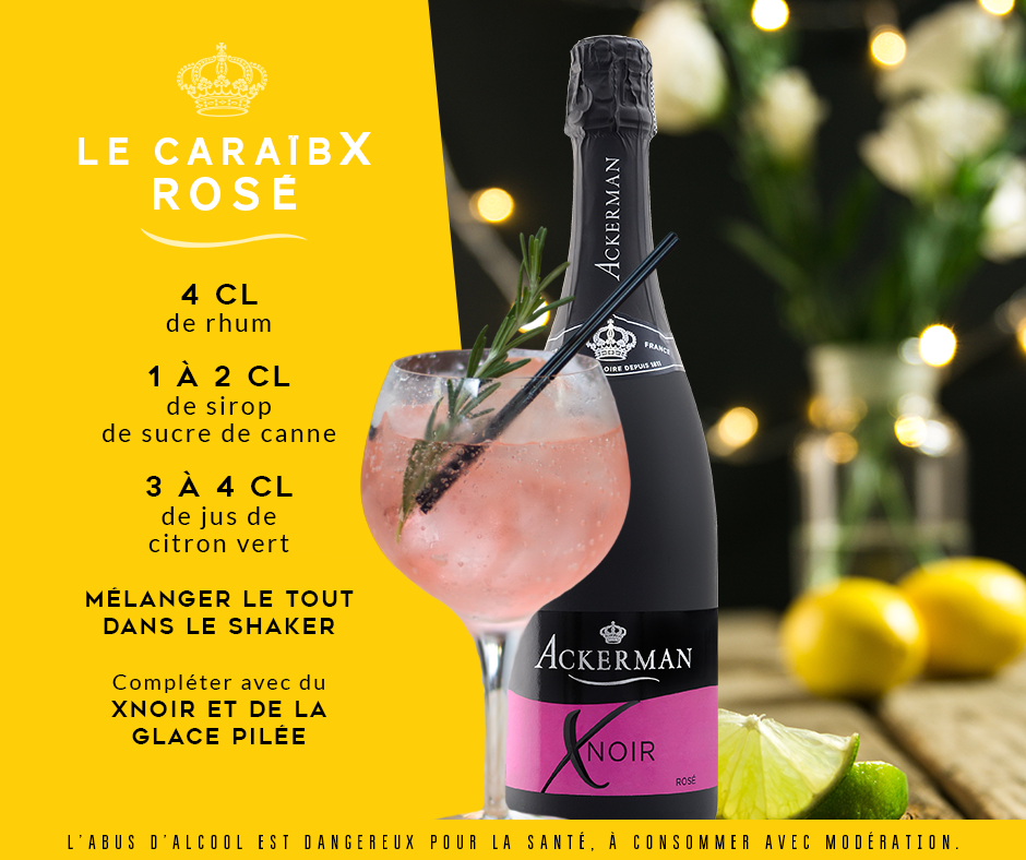 Cocktail caraïbx rosé